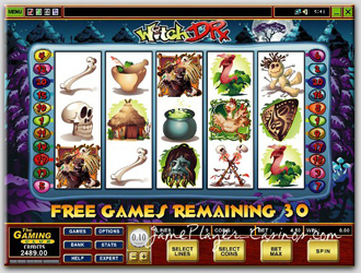 Play witch doctor @ Players Palace Casino