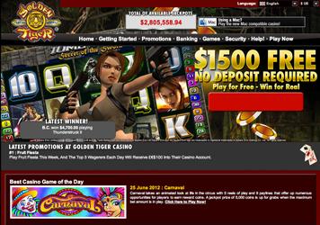 Golden Tiger Casino Website