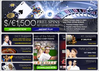 Prestige Casino Website