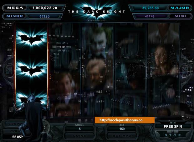 Dark Knight Slots held reel