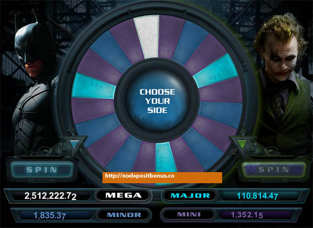 The Dark Knight Jackpot wheel
