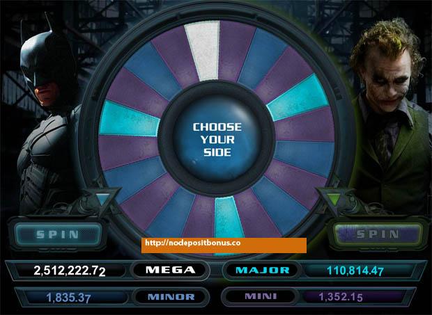 The Dark Knight Jackpot wheel