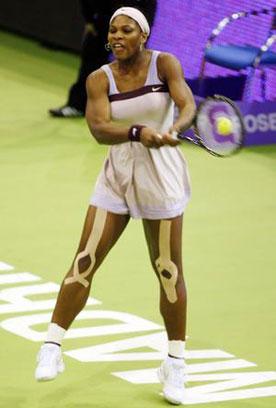 Serena Williams Kinesio Tape