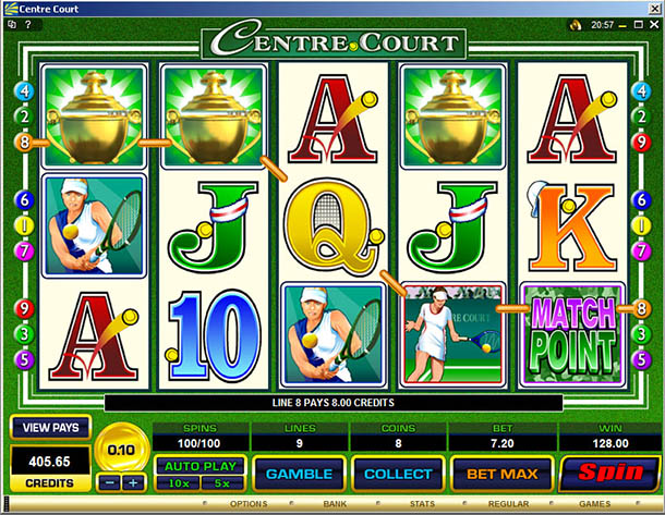 Centre Court™ Slot Machine Game to Play Free in Microgamings Online Casinos