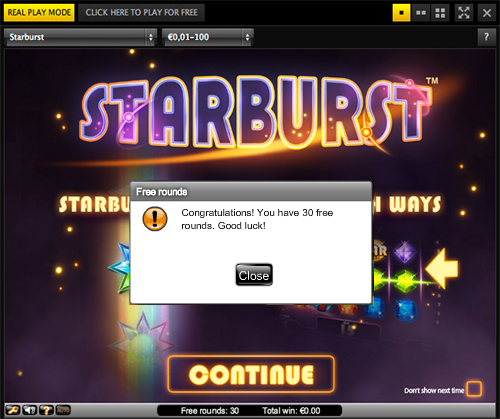 30 Starburst Free Spins No Deposit Required