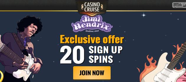 CasinoCruise-No DepositFreeSpins-Jimi Hendrix