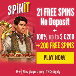 Spinit Casino No Deposit Free Spins